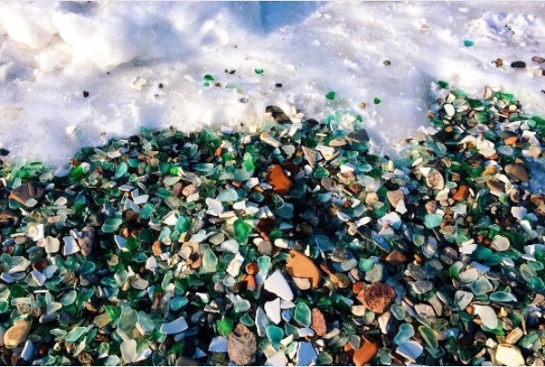 Sea Glass, a free verse poem